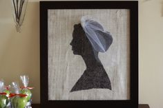 Burlap. Silhouette of Bride! from @Jane Daly Eisenhart