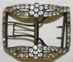 Shoe buckle, British, late 18th century