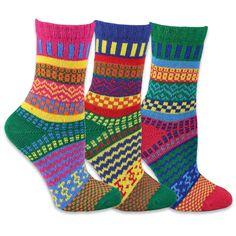 TeeHee Women's Winter Fun -colored Crew Socks