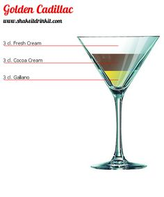 If you can't make it over to Poor Red's, here's the recipe for The Golden Cadillac – Ice – Heavy Cream – White Creme de Cacao – Galliano In a blender with the motor on high blend 5 ice cubes, crushed, 3 tablespoons heavy cream, and 1 ounce each of white crème de cacao and Galliano for 15 seconds, or until the mixture is smooth, and pour the mixture into a chilled saucer-shaped Champagne glass. Makes 1 drink.