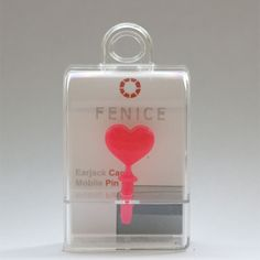 http://www.cell-wear.com/ear-jack-caps.html  #earjackcaps #fenice #design #cellphone #accessories #heart #love #pink #valentine #cute