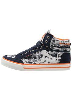 Drunknmunky BOSTON Sneaker high navy/orange für Herren -