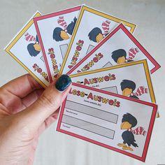 """Ausweiskärtchen für Antolin und Zahlenzorro   Für die Portale """"Antolin"""" bzw. """"Zahlenzorro"""" habe ich kleine Ausweiskärtchen  erstellt, die ..."""