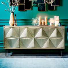 West Elm offers modern furniture and home decor featuring inspiring designs and colors. Create a stylish space with home accessories from West Elm. Buffets, Modern Sideboard, Sideboard Ideas, Cabinet Ideas, Mint Walls, Best Buffet, Consoles, Living Room Cabinets, Modern Cabinets