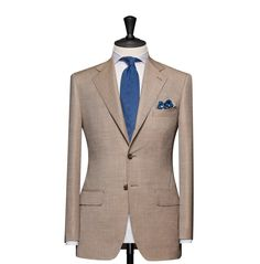 Tailored 2-Piece Suit – Fabric 4609 Plain Beige Cloth weight: 250g Composition: 100% Wool Super 130's
