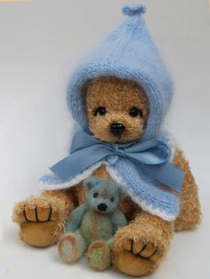 Mason and his friend by bearkidz by MarionFraile... little Boy Blue <3's his beary bear!