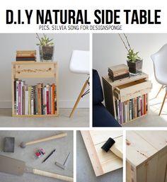 DIY natural side table