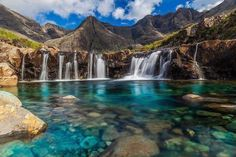 The spell of the Fairy Pools (Scotland) is that they look as if they must be warm – with the kind of vivid blue water associated with the Maldives – but, having come straight down from the Black Cuillins they're anything but. The pools are, however, delightful, and few are immune to their charms. #travels #euforiaonline