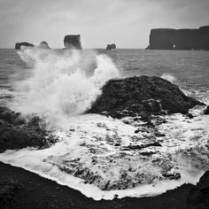 Iceland BLACK & WHITE 1x1 by unso, via Flickr #iceland #travel #nature #iceland