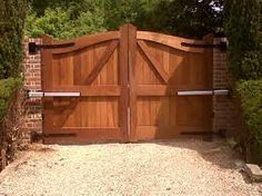 Like these gates and the black hinges WALL MOUNTED BLACK ELECTRIC GATE INTERCOM UK - Google Search