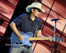 Brad Paisley performing in St Louis Friday at the opening show for the season at Verizon Wireless Amphitheater.      Music, live music, photography, concert photography, cowboy hat, guitar, country music, live concert picture