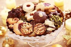 Delicious Christmas Cookies Stock Image - Image of aromatic, refresh: 16822009 Christmas Sweets, Christmas Cooking, Christmas 2017, Christmas Time, Doughnut, Tiramisu, Cereal, Goodies, Food And Drink