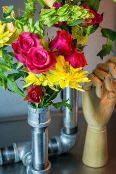 Galvanized Pipe Vase by Sam Henderson of Today's Nest