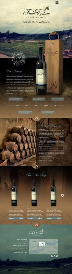 Self promotion branding and web site layout for a winery. - Tamara Pettman Design and Illustration Layout Design, Logo Design, App Design, Website Design Inspiration, Graphic Design Inspiration, Interface Web, Interface Design, Corporate Design, Creation Web