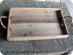 AKM designs and delights: DIY Pallet Wood Tray - Tutorial