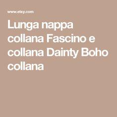Lunga nappa collana  Fascino e collana  Dainty Boho collana