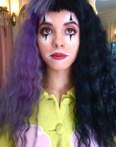 Melanie with clown makeup