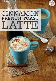 This Cinnamon French Toast Latte is a tasty accessory to your morning breakfast or a delicious, afternoon treat! For extra yum factor, top with whipped cream and fresh cinnamon!