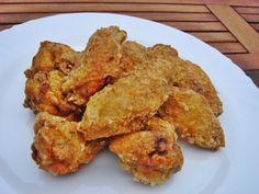 Ínycsiklandó csirkeszárnyak Korean Fried Chicken, Fried Pork, Pork Rib Recipes, Ciabatta, Pork Ribs, Kfc, French Fries, Gluten Free Recipes, Fast Recipes
