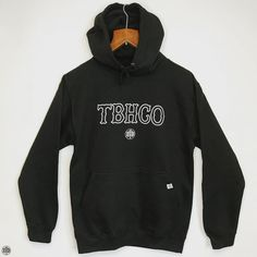 THE BEARHUG CO - TBHCO Logo & Back Print - Jet Black Hoodie