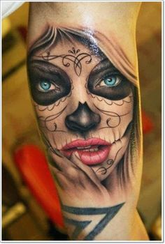 The beautiful La Catrina Tattoo and its meaning - Tattoo Ideas & Trends Rose Tattoos, Sexy Tattoos, Body Art Tattoos, Girl Tattoos, Sleeve Tattoos, Tattoos For Women, Tattoos For Guys, Tatoos, Exotic Tattoos