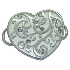 Heart with Crystals Convertible Clasp https://www.goldinart.com/shop/convertible-clasp-bracelets/heart-with-crystals-convertible-clasp #ConvertibleClasp, #Stars, #SterlingSilver