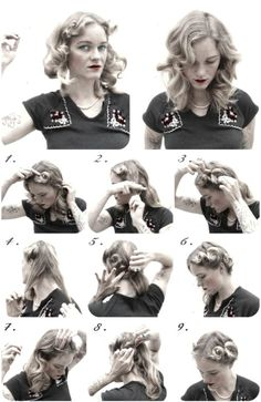 How-To Hair Girl | Easy 1940's pin-curl set
