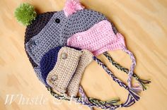 Button Eskimo Baby Hat - Whistle and Ivy