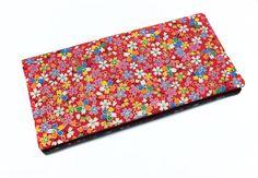 étui pour livret de famille en tissu japonais rouge petites
