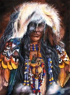 Sacred Spirit.  Peter Williams.  Watercolor