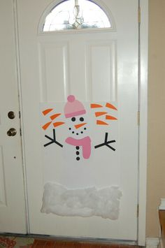 Winter onederland party - pin the nose on the snowman game More