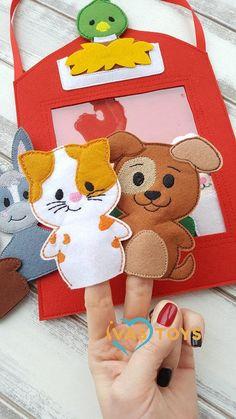 Educational Toys For Preschoolers, Educational Toys For Toddlers, Felt Puppets, Felt Finger Puppets, Felt Quiet Books, Felt Toys, Diy Toys, Toys For Boys, Handmade Toys