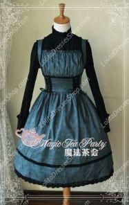 Sweet Cotten Magic Tea Party JSK Floral Aoweina Lolita Dress