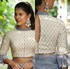 Beautiful Silk Blouse with gota patti embellishments.
