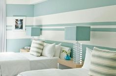 Nautical walls in seafoam green... Love!