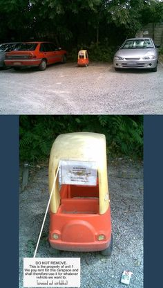 If I had a parking space, I'd be tempted to do this.