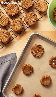 For your next cookie exchange or bake off, make Flourless Peanut Butter Chocolate Chip Cookies. Use a fork to press a pattern on the top of these tasty treats. People will be begging you for the recipe as soon as they take their first bite.