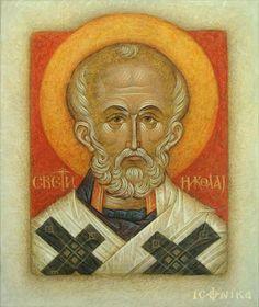 Nicholas the Wonderworker Small Icons, Byzantine Art, Saint Nicholas, Catholic Art, Art Icon, Orthodox Icons, Sacred Art, Saints, Religion