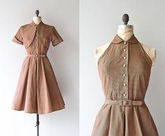 Dream Date dress  vintage 1950s dress  50s halter by DearGolden