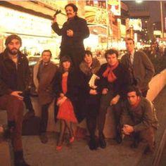 LANFORD WILSON, JEAN-CLAUDE VAN ITALLIE, H.M. KOUTOUKAS, ROSALYN DREXLER, IRENE FORNES, LEONARD MELFI, TOM EYEN, PAUL FOSTER, 1966, photo by Gloaguen.