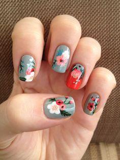 The 57 pretty nail art designs that perfect for spring looks 19 Flower Nail Designs, Cute Nail Art Designs, Nail Polish, Floral Nail Art, Manicure Y Pedicure, Pedicures, Pretty Nail Art, Fabulous Nails, Flower Nails