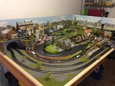 N Scale Train Layout, N Scale Layouts, Model Train Layouts, N Scale Model Trains, Scale Models, Train Info, Garden Railroad, Train Table, Ho Trains