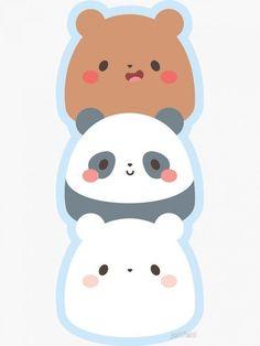 Cute Animal Drawings Kawaii, Cute Easy Drawings, Cute Little Drawings, Cute Cartoon Drawings, Cute Panda Wallpaper, Bear Wallpaper, Kawaii Wallpaper, Wallpaper Iphone Cute, We Bare Bears Wallpapers
