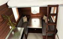 Loft and table, from above Miter Box Tiny House Plans, p.a.d.
