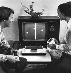 T.V. Pong... hours of mindless fun! The game was first released in 1972 and during the 1975 Christmas season, Atari released a home version of Pong exclusively through Sears retail stores.