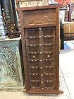 Antique Terrace Window Chakra Rustic Patina Carved INDIA DISTRESSED CARVED WOOD