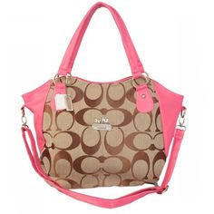 Cheap And Fashion Coach Logo In Signature Small Pink Totes BKR Are Here!