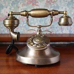 Téléphone ancien déco rétro - appareil téléphonique ancien - téléphone d'intérieur rétro