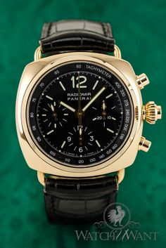 Rose Gold Panerai PAM 147 E - Radiomir Chronograph Split-Seconds Rattrapante - Ltd. Edition of only 35 Pieces