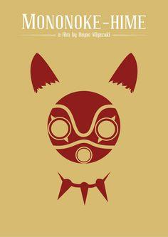 Hayao Miyazaki Movie Posters by Jose Elpidio in 90 Fresh and Minimal Movie Posters